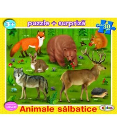 Puzzle - Animale salbatice (30 piese)