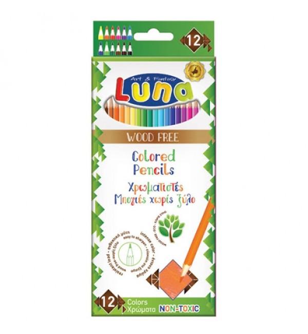 Luna-Set 12 creioane colorate woodFREE