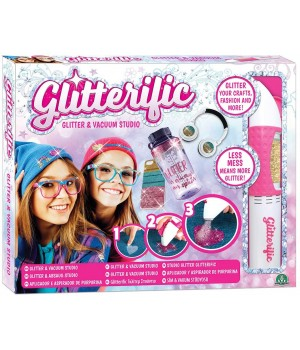 GLITTERIFIC - SET DE APLICARE SI ASPIRARE GLITTER